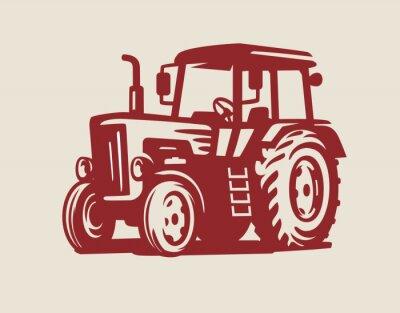 Canvastavlor vektor Traktor symbol