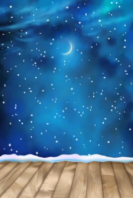 Canvastavlor Vektor Winter per moln bakgrund