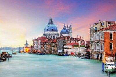 Canvastavlor Venedig - Canal Grande och basilikan Santa Maria della Salute