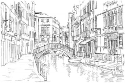 Canvastavlor Venedig - Fondamenta Rio Marin