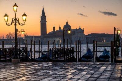 Canvastavlor Venezia, alba e Chiesa di S. Giorgio