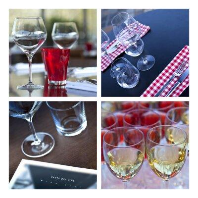 Canvastavlor Verre, Verrerie, vin, bord, couvert, bar, brasserie, grotta