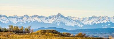 Canvastavlor vid foten av Colorado Rockies