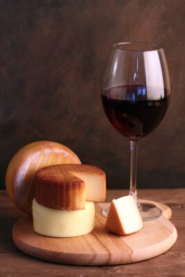 Canvastavlor Vin och ost