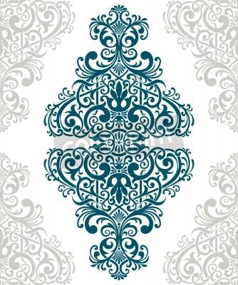 Canvastavlor vintage barock gräns ram kortluckan blomstermotiv arabiska retro mönster utsirad