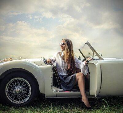 Canvastavlor vintage bil