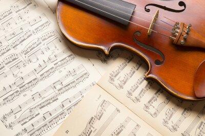 Canvastavlor Vintage fiol på noterna.