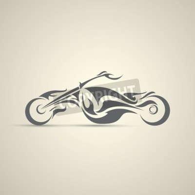 Canvastavlor vintage motorcykel etikett, märke, designelement. abstrakt motorcykellogo