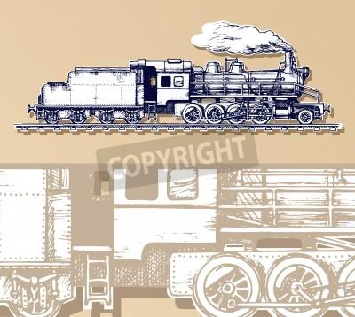 Canvastavlor vintage tåg.