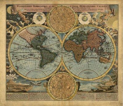 Canvastavlor Vintagevärldskarta