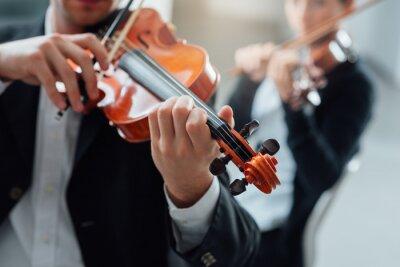 Canvastavlor Violin duet prestanda