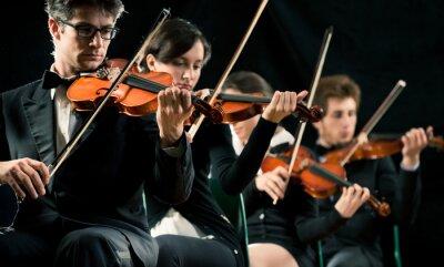 Canvastavlor Violin orkester utför