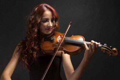 Canvastavlor Violinst Kvinna