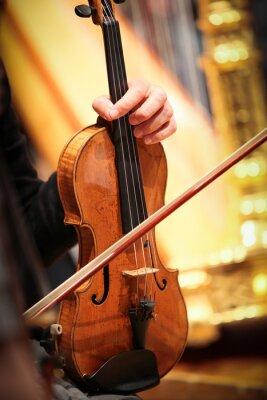 Canvastavlor violon instrumentet en ventilations musique classique symphonique corde