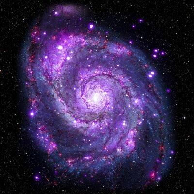 Canvastavlor Visa bilden av Galaxy-systemet isolerade delar av bilden som tillhandahålls av NASA