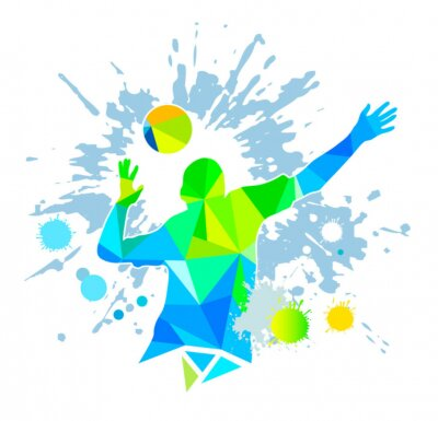 Canvastavlor Volleyboll - 58