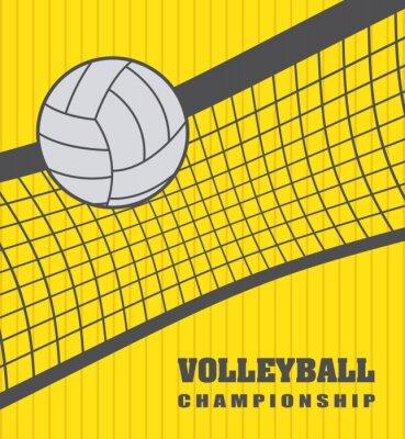 Canvastavlor volleyboll boll