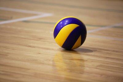 Canvastavlor Volleyboll boll på golvet