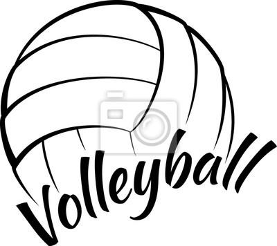 Canvastavlor Volleyboll med rolig text