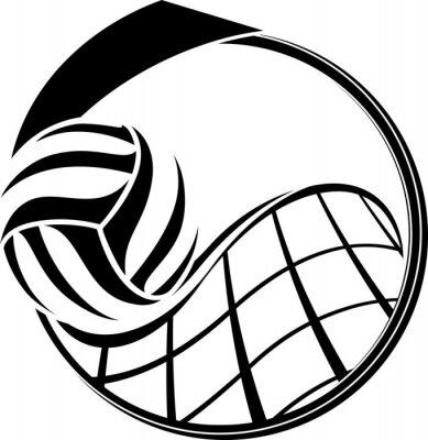Canvastavlor Volleyboll Medal Design