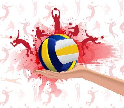 Canvastavlor Volleyboll sportdesign bakgrund