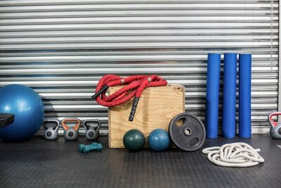 Canvastavlor Vy över träningsredskap