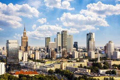 Canvastavlor Warszawa affärsdistrikt