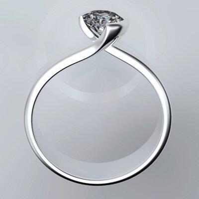 Canvastavlor Wedding Ring med diamant