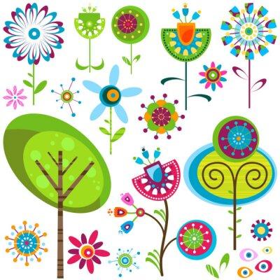 Canvastavlor whimsy blommor