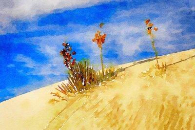 Canvastavlor white Sands
