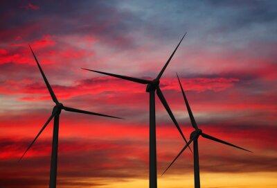 Canvastavlor Wind generator turbiner i himlen