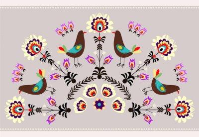 Canvastavlor Wzór z ptakami
