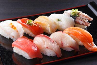 Canvastavlor に ぎ り 寿司 の 盛 り 合 せ