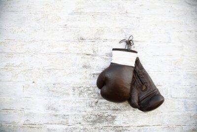 Canvastavlor перчатки для бокса висят на стене