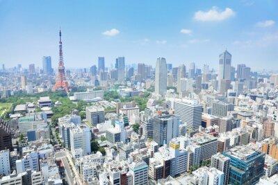 Canvastavlor 東京 の 眺 め