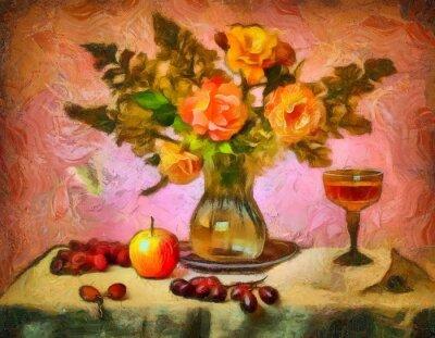 Canvastavlor натюрморт с розами