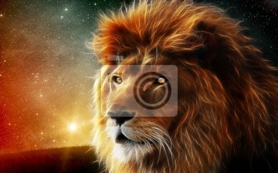Canvastavlor Загадочный лев