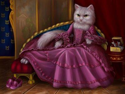 Canvastavlor Кошка графиня