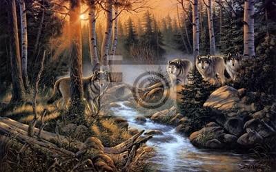 Canvastavlor Стая волков
