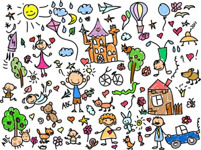 Canvastavlor Детские рисунки