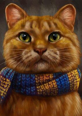 Canvastavlor Рыжий кот