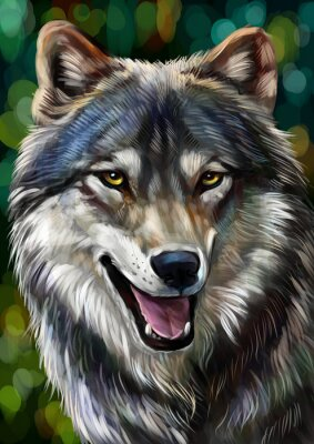 Canvastavlor Волк