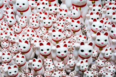 Canvastavlor Goutokuji-templet tecken åt katten, Tokyo, Japan (豪 徳 寺 の 招 き 猫)
