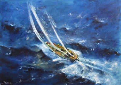 Canvastavlor Yachting V
