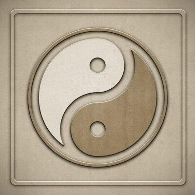 Canvastavlor Yin Yang - papper - prägling