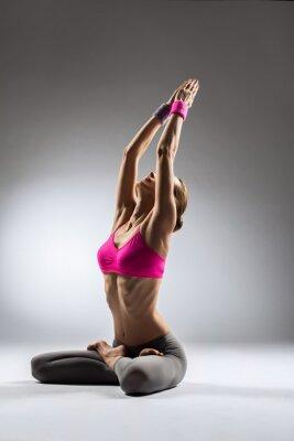 Canvastavlor yoga kvinna