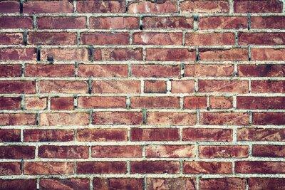 Canvastavlor Zbliżenie na stary mur z cegieł