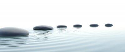 Canvastavlor Zen väg stenar i widescreen