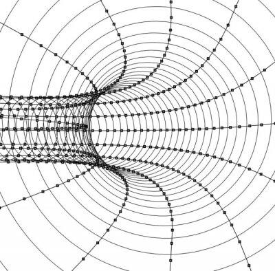 Fototapet 3d abstrakt tunnel eller ett rör