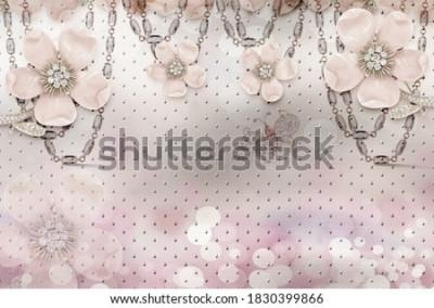 Fototapet 3d flower wallpaper 3d background- Illustration